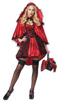 Sweet Little Red Riding Hood Halloween Costume Fancy Outfit Cosplay Little Red Riding Hood Costume(China)