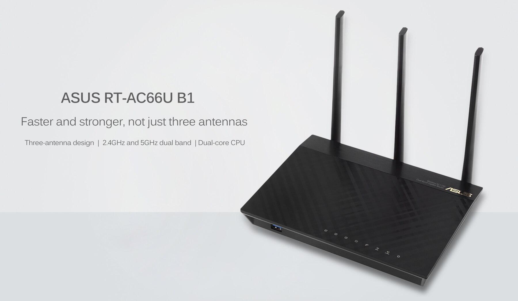 ASUS RT-AC66U B1 Dual-Band 3x3 AC1750 Wi-Fi 4-Port Gigabit Router