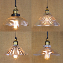 Vintage Industrial clear Glass Pendant Light American Countryside Loft Edison Light Pendant Lamp Bar Restaurant lighting fixture