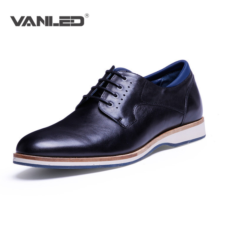 Oxford Luxury Brand Men Casual Fashion Dress Shoes Wedding Genuine Shoes Men Leather Italian Pointed Toe Flats Black Shoes<br><br>Aliexpress