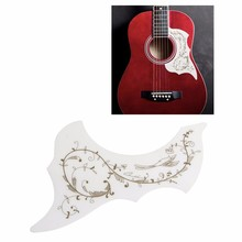 1Pc Acoustic Guitar Pickguard Hummingbird Scratch Plate Pickguard White Background