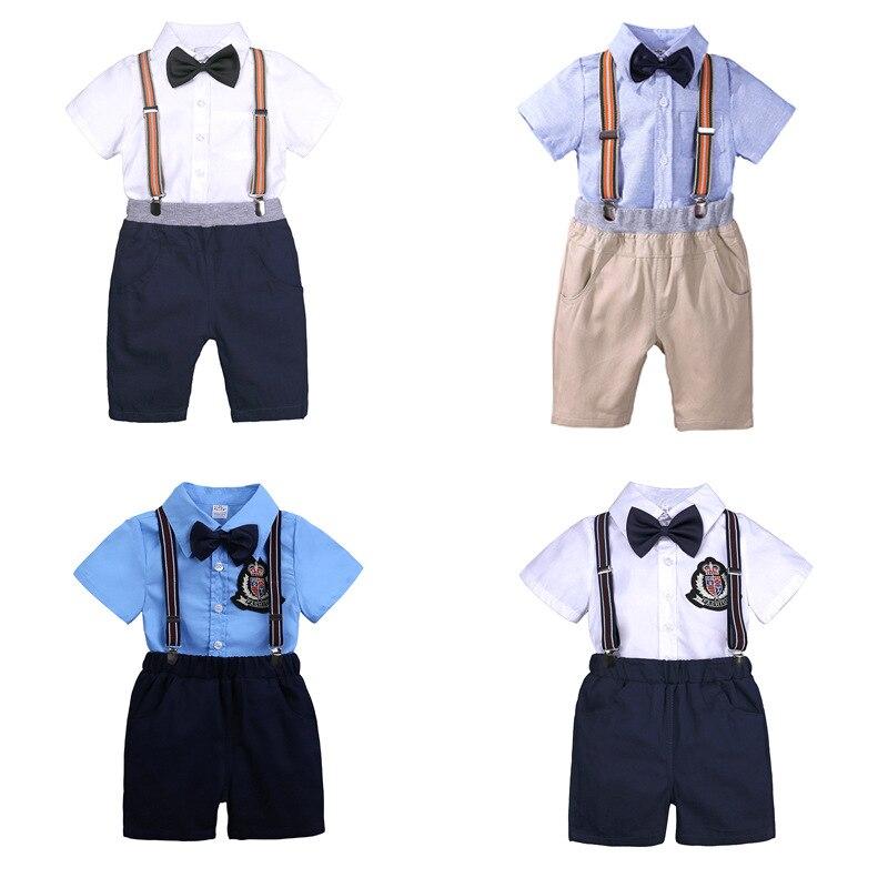 summer boy clothes newborn baby set letter T-shirt tops+bodysuit+shorts costume infant clothing new born outfit babies suit 2019