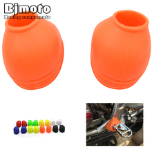 Universal PVC FootPeg Cover motocross Motorcycle Off Road bike foot pegs Dust-proof Cover For KTM Dirt bike(China)