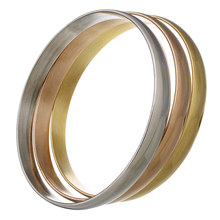Stainless Steel Bangle Set for woman 8x2mm Inner Diameter:Approx 67mm, Length:Approx 9 Inch, 3PCs/Set, Sold By Set