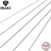 Buy Classic Basic Chain 100% 925 Sterling Silver Lobster Clasp Adjustable Necklace Chain Fashion Jewelry kolye collares ECA009-45 for $4.89 in AliExpress store