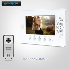 "HOMSECUR 7"" Video Door Intercom System with Intra-monitor Audio Intercom for House/ Flat(China)"