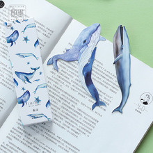 30 pcs/lot DIY Cute Kawaii Paper Bookmarks Cartoon Whale Book Marks For Kids Gift School Supplies Free Shipping 2498
