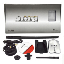 Elisona 2.4GHz 150Mbps Alfa AWUS036NH High Power USB WIFI Adapter RT3070 2 8dBi 1000mW 1W wi fi Antenna 802.11b/g/n