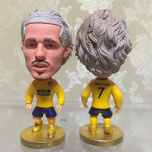 Soccerwe 6.5 cm Height Resin Football Star Doll 2018 Season 7 Atletico Antoine Griezmann Figurine Red White Kit Gift Collection(China)