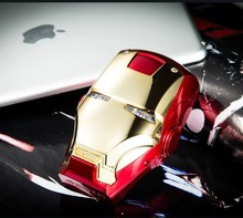 Newest Iron Man Portable Power Bank 6000mAh for Mobile Phone Universal External Backup Battery with retail box Sample sale