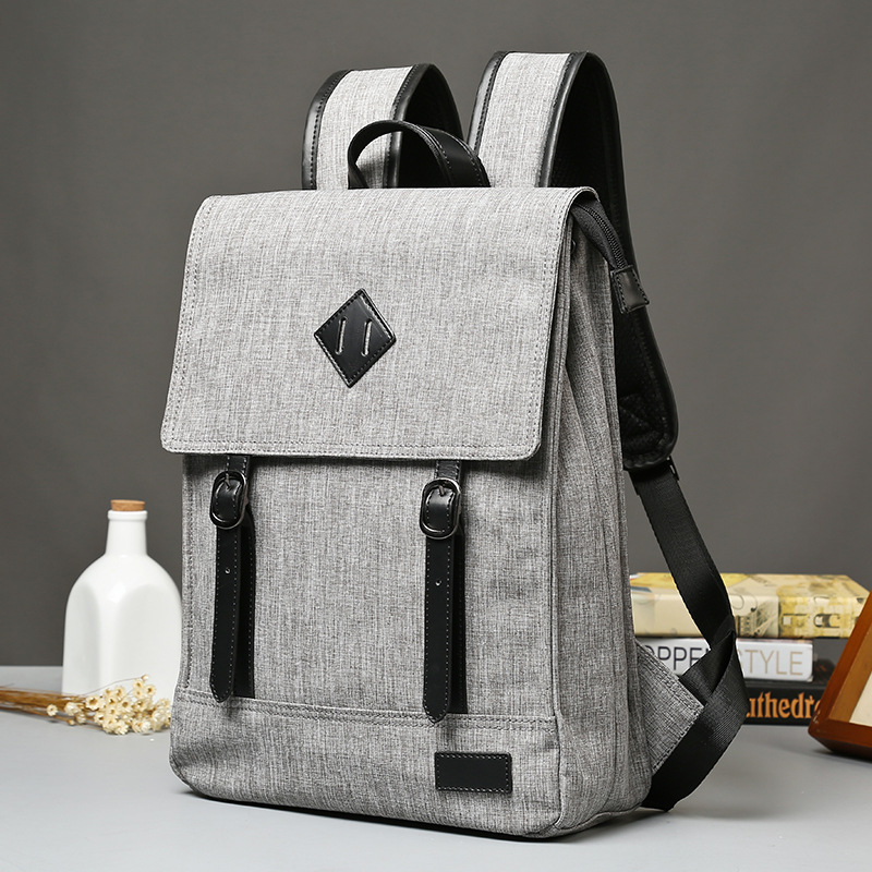 2017 Real Sale Unisex Polyester Mochila Feminina Leather Japanese Korean Wear Grey Backpack Bag Snap Leisure Fashion Solid <br>