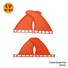 Orange Future-Quad-Fins SUP Surfboard Future Quad Quilhas Honeycomb Fins Future G5+GL Fin  In Surfing