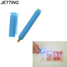 JETTING 2 in1 Useful UV Light Banknotes Detector Counterfeit Fake Forged Money Bank Note Checker Detector Tester Marker Pen