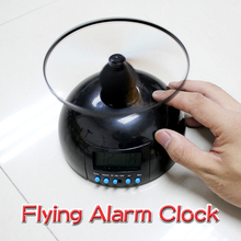 Creative Toy With Clock Backlight Alarm Clock Gift Flying Lazy Helicopter E E2shopping(China)