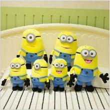 1PCS Despicable Me High Quality Plush Toy 18cm Little Yellow People Soft Dolls Jorge Stuart Dave Plush Toys Free Shipping