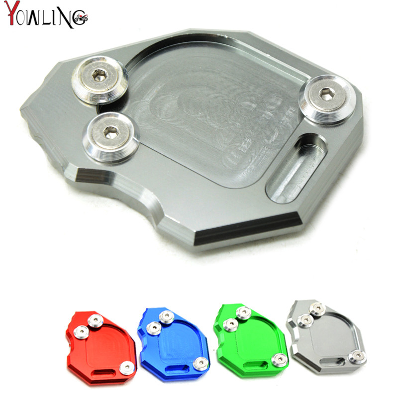 CNC Motorcycle Side Kickstand Stand Extension Plate Side Stand Enlarge For BMW F800GS F 800GS F800 GS 800 2012 2013 2014 2015