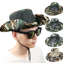 Bucket Hats Caps Military Camouflage Jungle Camo Fisherman Hat with Wide Brim Sun Fishing Bucket Hat Camping Hunting Cap AT-DC14