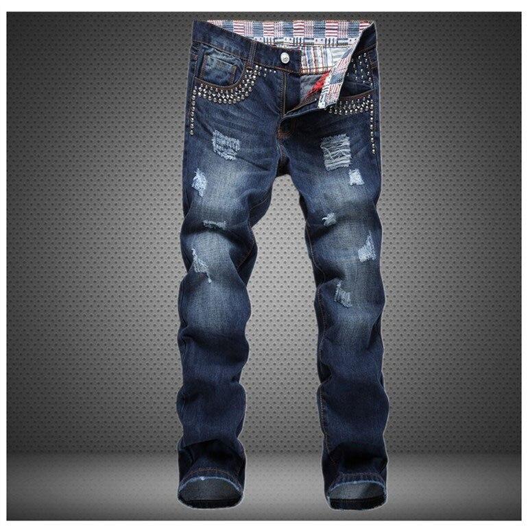 2017 western designer fashion mens jeans cotton high quality casual denim trousers Stripe slim brand luxury Straight mens jeansÎäåæäà è àêñåññóàðû<br><br>