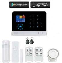 2.4 Inch Display Smart Wireless Shop Home Alarmsysteem WIFI/GSM//GPRS intranet Security Alarm System With 2pcs RFID Keyfobs