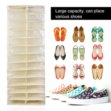 26 Pockets PVC Shoe Rack Storage Organizer Waterproof Holder Folding Door Closet Hanging Space Saver with 3 Color(China)