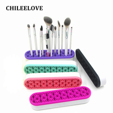 CHILEELOVE 5 Color Silicone Makeup Brush Kit Storage Box Holder Display Stand For Cosmetic Tool Makeover Brush