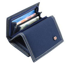 Multifunctional Men's Canvas Student Wallet Zipper Short Magic 3 Fold Design Men Purse 4 Colors 12*8.5cm X102(China)