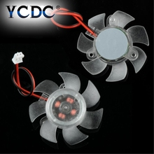 YCDC Mini 45mm 2Pin PC Graphics VGA Video Card Heatsink Cooler Cooling Replacement Fan 12V Free Shipping