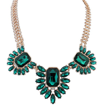 New SPX5859 Fashion Amazing Crystal Bib Bead collar Statement big chunky stone necklaces