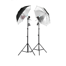 Free Shipping!!!  Photographic Equipment Clothing Shoot Photography Set 2m Light Stand + Reflector Umbrella + Socket Adapter