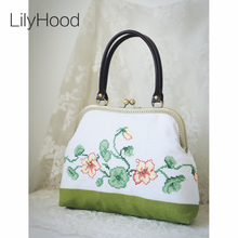 LilyHood Handmade Embroidery Women Floral Handbag Spring Vintage Retro Shabby Chic Jute Inspired Personalized Messenger Bags