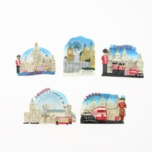 Limited Offer, Quality 3D Resin Fridge Magnet, London, England, Double Decker Bus, UK Refrigerator Magnet Sticker Souvenirs