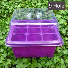 3sets/lot Seedling Tray Sprout Plate 9 Holes Nursery Pot Greenhouse Box Flower Bonsai Tool for Raising Seedling(China)