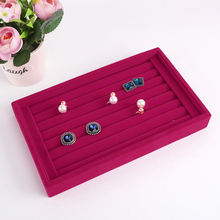 Buy Jewelry Display Velvet Earrings Ring Organizer Ear Studs Jewelry Display Stand Holder Rack Showcase 5 Colors 22.5 x14.5x3cm Case for $4.25 in AliExpress store