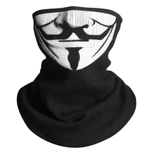 V for Vendetta Scarf Magic Half Face Mask Headband Skeleton Motorcycle Headwear Headband Neck Bandana Cosplay Costume