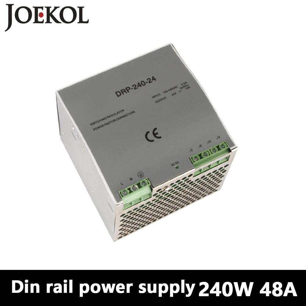 DR-240 Din Rail Power Supply 240W 48V 5A,Switching Power Supply AC 110v/220v Transformer To DC 48v,ac dc converter<br>