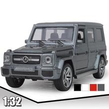 EFHH AMG G65 1:32 Scale Vehicle Car Model Diecast Pull Back Cars Acousto-optic Auto with Musical Flash Door Open Collection Cars(China)