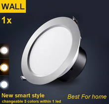 Super Bright LED Downlight 3W 5W 7W 12W  220V 230V Led Ceiling Recessed Downlight lamp bulbs Spot light lighting Warm/Cold White