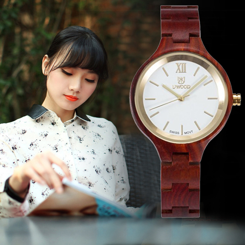 Luxury Brand  Ladies Fashion Casual Watch Women Nature Wood Watches Elegant Quartz Womens Wooden Wristwatch Relogio Feminino<br>