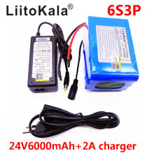 HK LiitoKala 24V 6Ah 6S3P Battery Pack 25.2V 18650 Battery 6000mAh Rechargeable Battery For GPS Navigator/Golf Car/Electric Bike