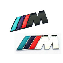 Cool M power Series M Logo 3D Metal Sticker Emblem Badge Chrome for BMW M3 M5 M6 X1 X3 X5 X6 E36 E39 E46 E30 E60 E92 All Model