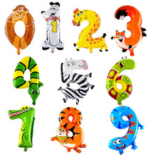 Lucky 1pcs 16inch Animal Shaped 0-9 Balloon Number Foil Air Baloons Aluminum Balloon Gift Party Supplies Decorations Globos Toys(China)