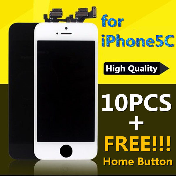 10pcs for iPhone 5C High Quality Test 1 by 1 LCD Touch Screen Display Digitizer Assembly New Wholesale White Black Free Shipping<br><br>Aliexpress