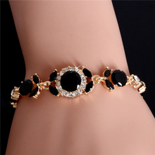 Atreus Jewelry Gift 2 Colors Gold Color Classic Australia Crystal/Rhinestone Cuff Chain infinity Bracelet For Women Girl(China)