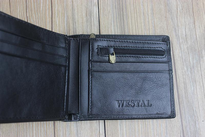 Must või pruun lehmanahast rahakott