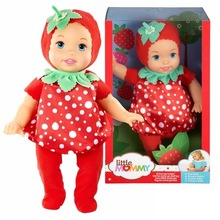 38cm strawberry girl Little Mommy baby doll Fragrant Boneca doll toy figure toy