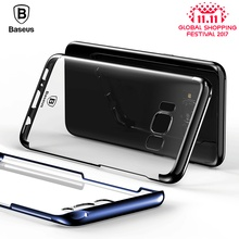 Baseus transparent Case For samsung Galaxy S8 Cases Glitter Series Plating Hard PC Plastic Shell for samsung Galaxy S8 plus