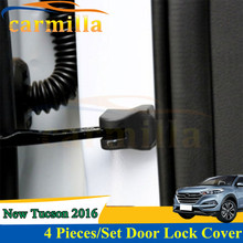 4PCS/SET Car Accessories Door Check Arm Cover Hinge Caps For Hyundai Sonata 8 9 Elantra Verna All New Santafe New Tucson 2016