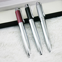 1Pcs/Lot  Quality metal ballpoint pen commercial roller pen quality ballpoint pen gift stationery pen