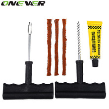 Onever 1 Set Auto Car Tire Repair Kit Car Bike Auto Tubeless Tire Tyre Puncture Plug Repair Tool Kit Tool Car Accessories