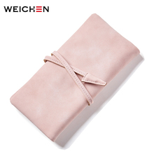 New 2017 Fashion High Capacity Casual Women Wallets PU Leather Wallet Long Design Luxury Brand Ladies Wallet Female Bind Purses(China)